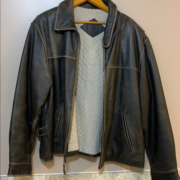 Other - XL Leather Bomber Jacket